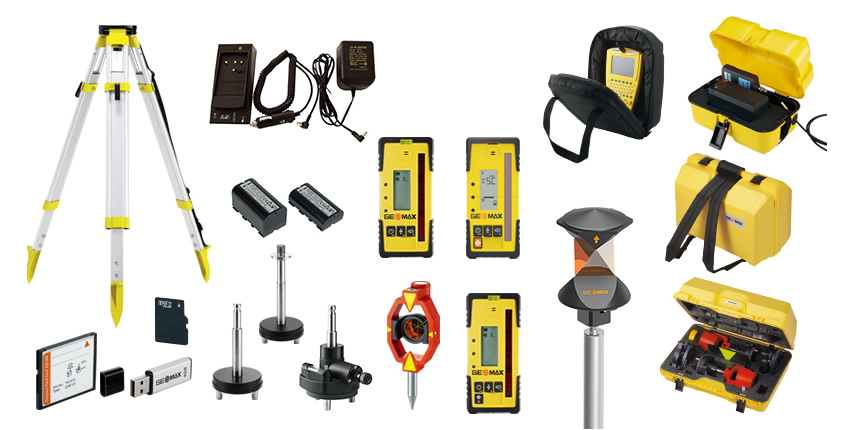Geomax accessories for geomax surveying tools